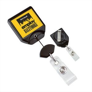 Badge Reel with Swivel Clip Belt Clip