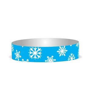"Preprinted 3/4"" Snowflakes Tyvek Bands"