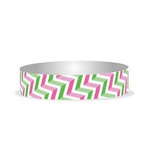 "Preprinted 3/4"" Chevron 2 color Tyvek Bands"