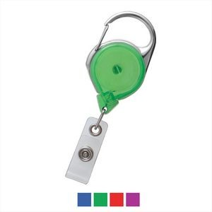 Translucent Carabiner Reel with Strap and Clip