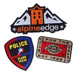Custom 75 percent Embroidered Patches (2