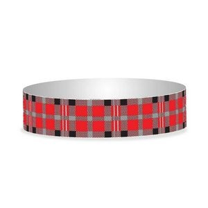 "Preprinted 3/4"" Plaid Tyvek Bands"