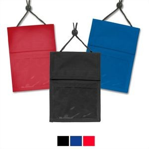 Black 3-Pocket Credential Wallet with Pen Compartments