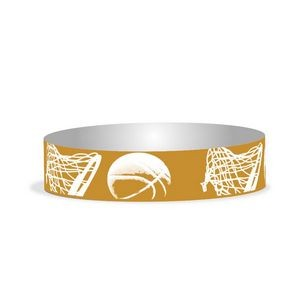 "Preprinted 3/4"" Basketball Tyvek Bands"