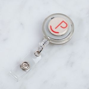 Round Custom Translucent Plastic Badge Reel