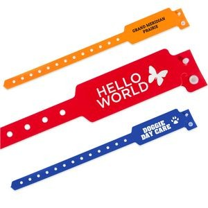 Custom Wide Face Plastic Tri-laminate Wristband