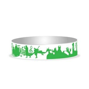 "Preprinted 3/4"" Concert Tyvek Bands"