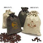 Custom Burlap Drawstring Bag (5