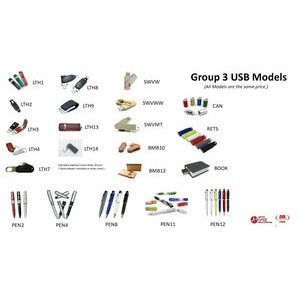 8GB USB's/Group 3 -All the same price!