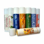 Custom SPF 15 Premium Natural/Organic Lip Balm - Peppermint Flavor