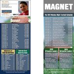 Custom Denver Pro Football Schedule Magnet (3 1/2
