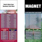 Custom San Francisco Pro Football Schedule Peel & Stick Magnet (3 1/2