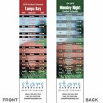 Custom Tampa Bay Pro Football Schedule Bookmark (2 1/4