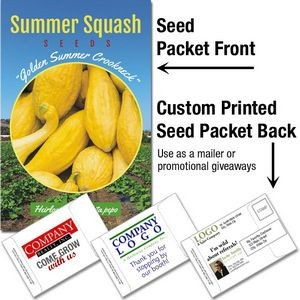 Summer Squash Seeds/ Mailable Seed Packet - Custom Printed Back