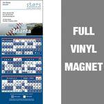 Custom Atlanta Pro Baseball Schedule Vinyl Magnet (3 1/2