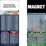 Custom Seattle Pro Football Schedule Peel & Stick Magnet (3 1/2