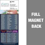 Custom Chicago Pro Football Schedule Vinyl Magnet (3 1/2