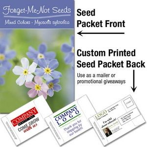 Forget-Me-Not (mixed colors)/ Mailable Seed Packet - Custom Printed Back