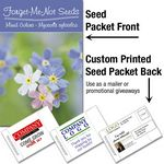 Custom Forget-Me-Not (mixed colors)/ Mailable Seed Packet - Custom Printed Back
