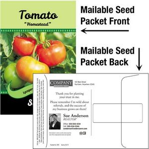 Tomato Seeds / Mailable Seed Packet - Custom Printed Back