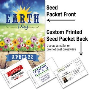 Earth Day - Daisy Flower Seed Packet / Mailable Seed Packet - Custom Printed Back