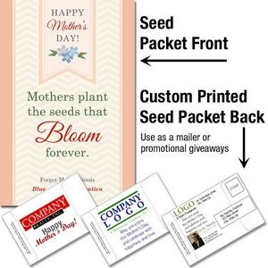 Mother's Day - Forget-Me-Not (blue)/ Mailable Seed Packet - Custom Printed Back
