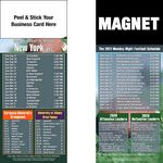 Custom New York Pro Football Schedule Peel & Stick Magnet (3 1/2