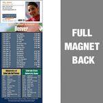 Custom Denver Pro Football Schedule Vinyl Magnet (3 1/2