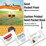 Custom The Bee's Knees Pollinator Wildflower Seed Packet / Mailable Seed Packet - Custom Printed Back