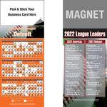 Custom Peel and Stick Detroit Pro Baseball Schedule Magnet (3 1/2
