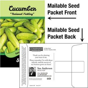 Cucumber Seeds / Mailable Seed Packet - Custom Printed Back