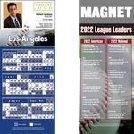 Custom Los Angeles (National) Pro Baseball Schedule Magnet (3 1/2