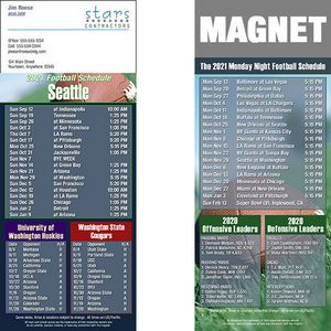 Seattle Football Schedule Magnet (3 1/2x8 1/2)