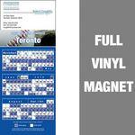 Custom Toronto Pro Baseball Schedule Vinyl Magnet (3 1/2