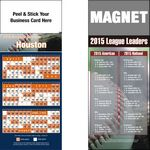 Custom Peel and Stick Houston Pro Baseball Schedule Magnet (3 1/2