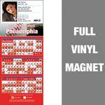 Custom Philadelphia Pro Baseball Schedule Vinyl Magnet (3 1/2