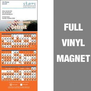 Detroit Pro Baseball Schedule Vinyl Magnet (3 1/2x8 1/2)