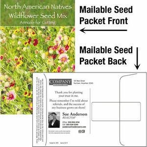 Wildflower Seed Mix / Mailable Seed Packet - Custom Printed Back