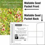 Custom Wildflower Seed Mix / Mailable Seed Packet - Custom Printed Back