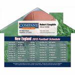Custom New England Pro Football Schedule House Shape Magnet (5