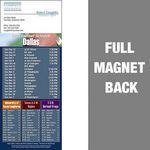 Custom Dallas Pro Football Schedule Vinyl Magnet (3 1/2
