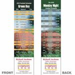 Custom Green Bay Pro Football Schedule Bookmark (2 1/4