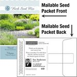 Custom Herb Seed Mix / Mailable Seed Packet - Custom Printed Back