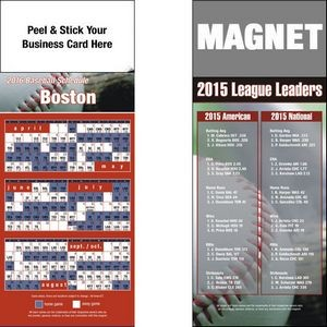 "Peel and Stick Boston Pro Baseball Schedule Magnet (3 1/2""x8 1/2"")"