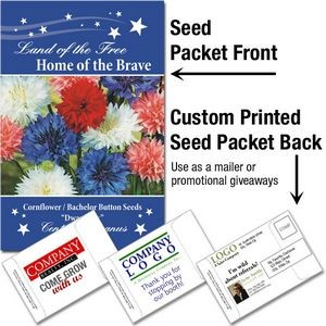 Patriotic & 4th of July Mailable/Handout Seed Packet - Custom Printed Back