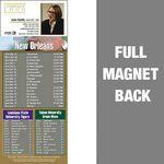 Custom New Orleans Pro Football Schedule Vinyl Magnet (3 1/2