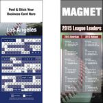 Custom Peel & Stick Los Angeles (NL) Pro Baseball Schedule Magnet (3 1/2