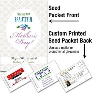 Mother's Day - Forget-Me-Not (mixed colors)/ Mailable Seed Packet - Custom Printed Back