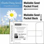 Custom Shasta Daisy / Mailable Seed Packet - Custom Printed Back