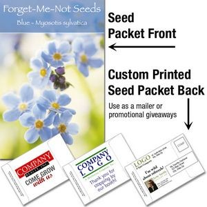Forget-Me-Not (blue)/ Mailable Seed Packet - Custom Printed Back